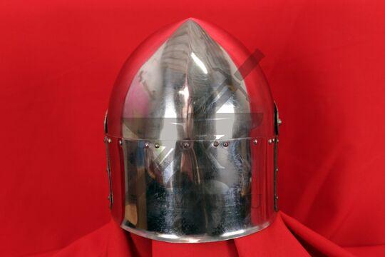 """Топхельм """"Сахарная голова"""" (полировка, латунный крест),  вид с обратной стороны"""