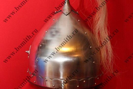 Шлем из Черной Могилы (тип 2), с плюмажем, и кожаной полосой под бармицу, фото 3