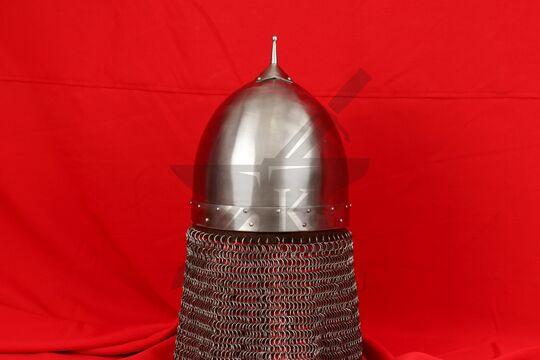 Шлем переяславского князя Ярослава Всеволодовича(купол, крепление бармицы, бармица), фото 3