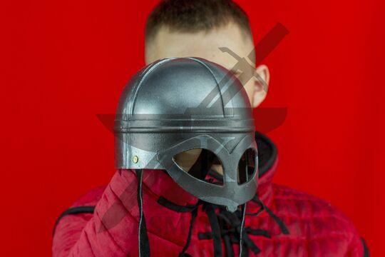 Шлем «Викинг» детский, пластик, вид в три четверти