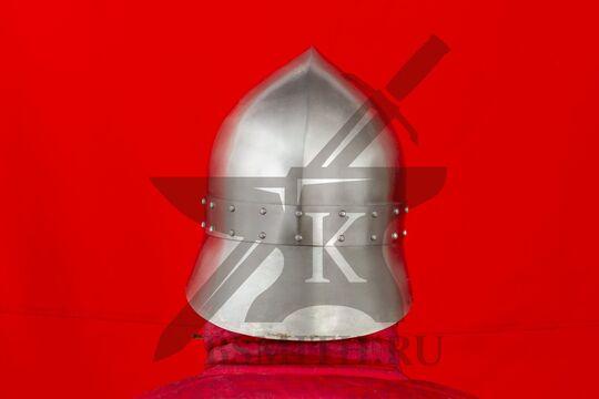 """Шлем """"фригийский колпак"""" с забралом, вариант 2, вид сзади"""