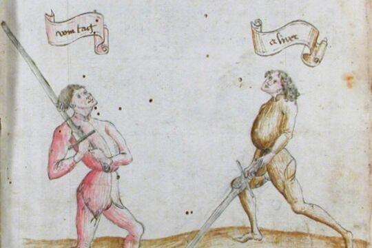 HEMA федершверт, изображение из средневекового фехтбуха
