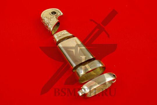 Набор на эфес и ножны шашки офицерской 1881-1910 гг, вид сбоку
