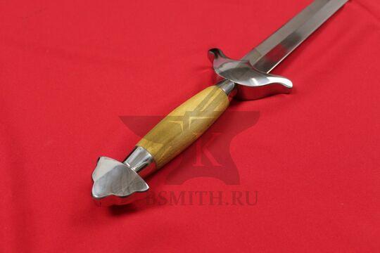 Китайский меч цзянь, эфес крупно со стороны навершия
