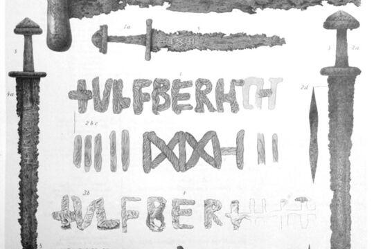 Зарисовки с тремя мечами Ульфберта, Лоранж, 1889г