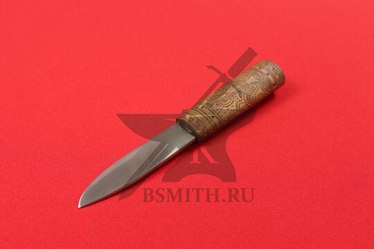 Нож бытовой, вариант 1, вид со стороны клинка
