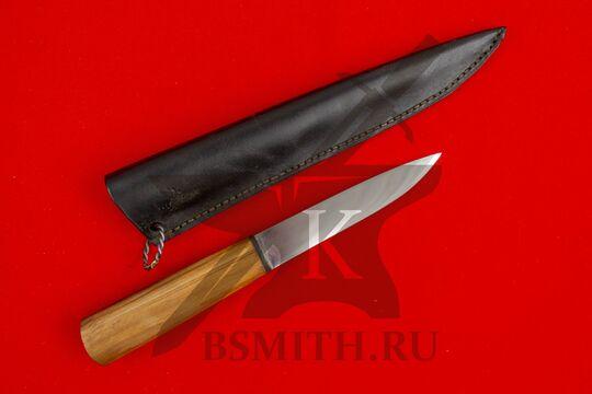 Нож бытовой, абрикос, с ножнами