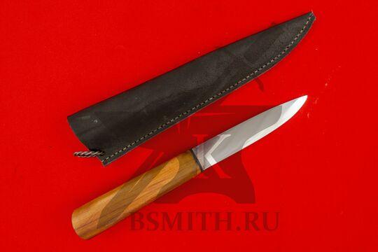 Нож бытовой, яблоня, с ножнами