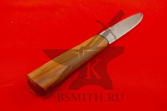 Нож бытовой, яблоня, со стороны рукояти