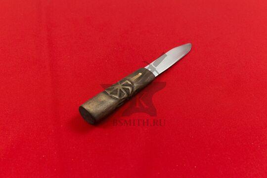 """Нож бытовой """"Коловрат - Сварог"""", фото со стороны рукояти"""