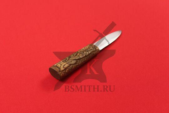 """Нож бытовой средневековый """"Птицы"""", вид со стороны рукояти"""