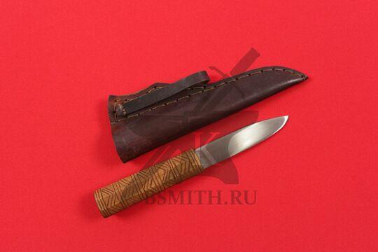 Нож бытовой средневековый, вариант 6, с ножнами