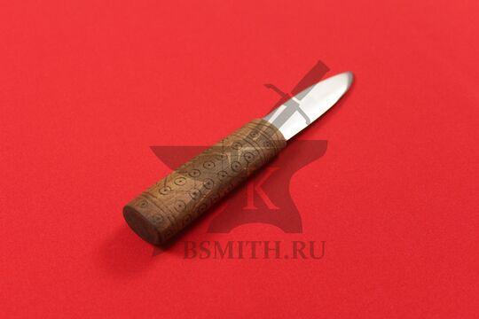 """Нож бытовой средневековый """"Новгородский-2"""", фото со стороны рукояти"""
