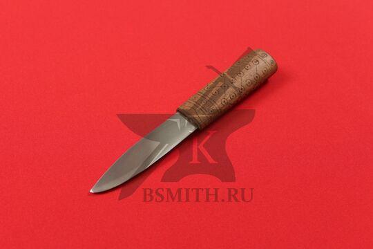 """Нож бытовой средневековый """"Новгородский-2"""", фото со стороны клинка"""