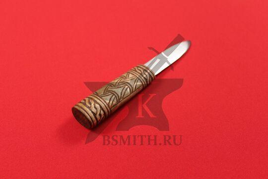 """Нож бытовой средневековый """"Новгородский"""", фото со стороны рукояти"""