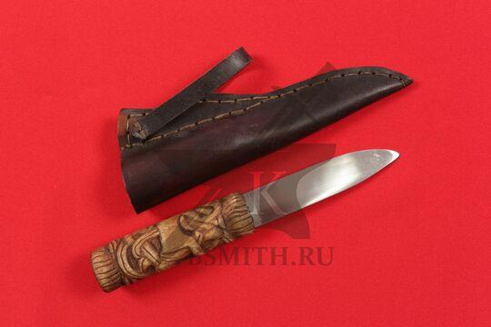 Нож бытовой средневековый, вариант 8, с ножнами