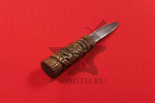 Нож бытовой средневековый, вариант 9, фото со стороны рукояти
