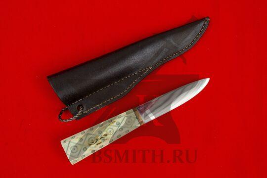 Нож с костяной рукоятью, вариант 2, с ножнами