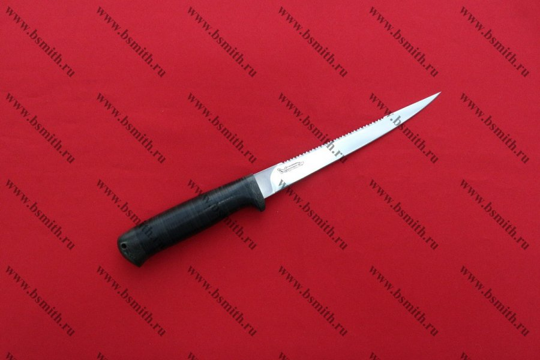 "Нож ""Белуга"", рукоять наборная кожа"
