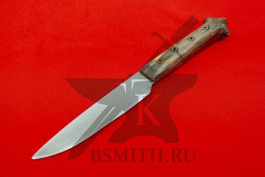 Нож с деревянной рукоятью, Европа, вариант 3, вид со стороны клинка