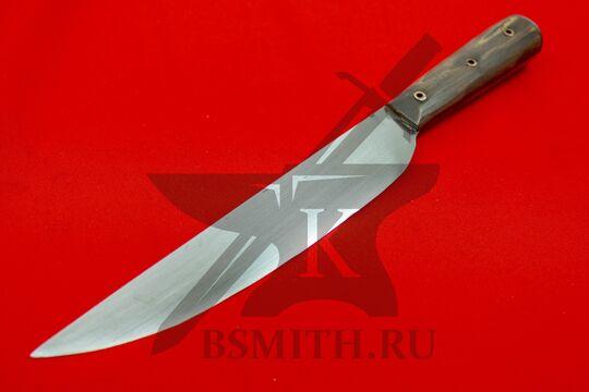 Нож с деревянной рукоятью большой, Европа, вид со стороны клинка