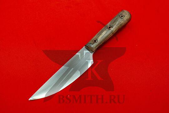 Нож с деревянной рукоятью, Европа, вариант 1, со стороны клинка
