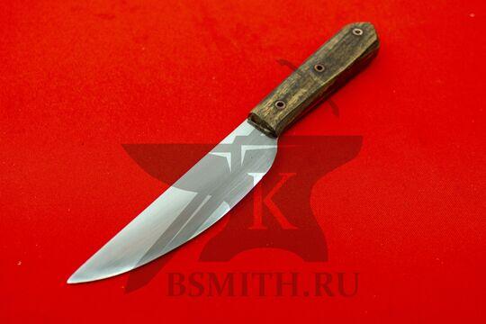 Нож с деревянной рукоятью, Европа, вариант 2, вид со стороны клинка