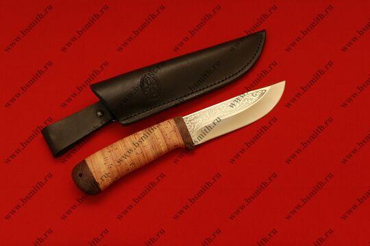 """Нож """"Клычок-2"""", рукоять наборная береста, фото 4"""