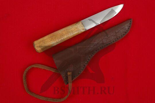 Нож бытовой простой, вариант 2, с ножнами