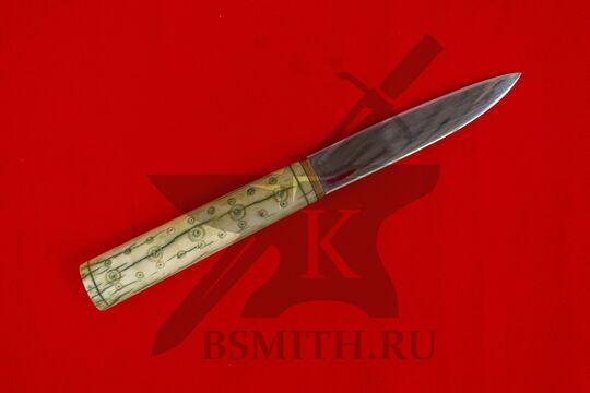 Нож с костяной рукоятью, вариант 3