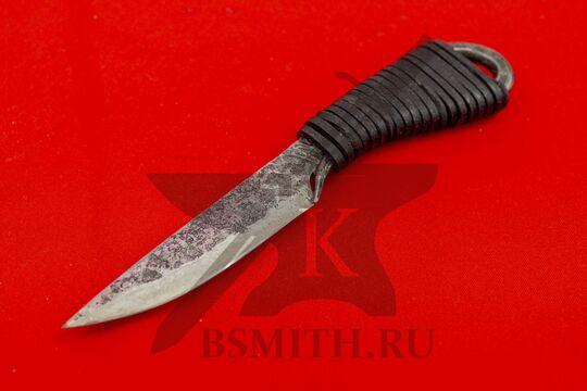 Нож новгородский малый с обмоткой, 65Г, вид со стороны клинка