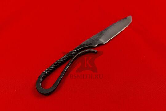 Нож новгородский малый вариант 2, 65Г, фото со стороны рукояти
