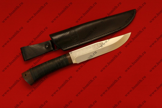 """Нож """"Шашлычный средний"""", рукоять наборная кожа, фото 2"""