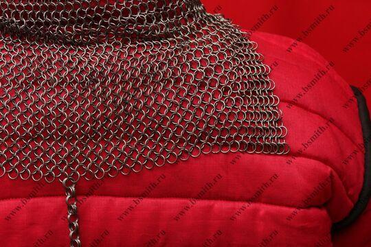 Койф кольчужный, 1.4х8 мм, прямоугольное ожерелье, фото 4