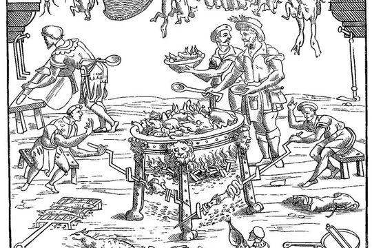Черпак кованый, Средневековье, источник
