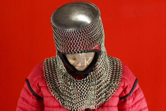 Шлем мисюрка с бармицей 2х10 мм, вид сверху