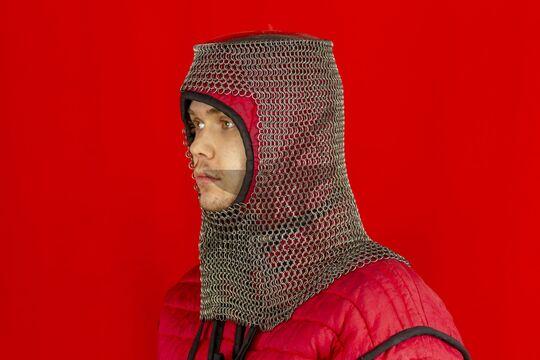 Шлем мисюрка с бармицей 1.6x8 мм, вид в три четверти