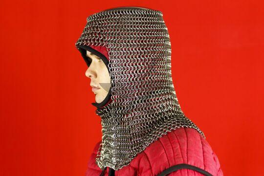 Шлем мисюрка с бармицей 2х10 мм, вид в три четверти