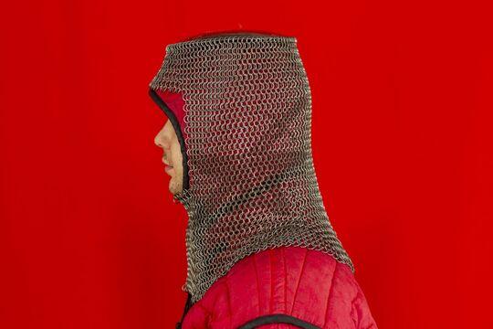 Шлем мисюрка с бармицей 1.6x8 мм, вид сбоку