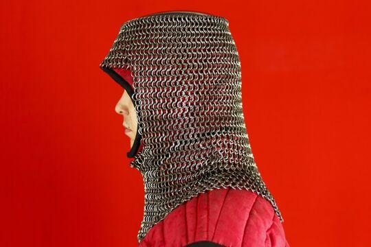 Шлем мисюрка с бармицей 2х10 мм, вид сбоку