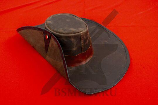 Широкополая шляпа мушкетера кожаная, фото 2