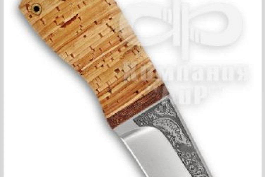 Нож Нерпа, рукоять наборная береста, фото