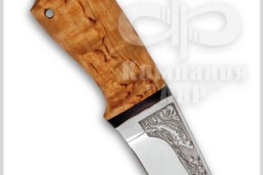 Нож Нерпа, рукоять карельская береза, фото