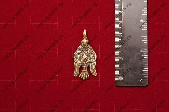 """Привеска """"Сокол"""", Бирка, 9-10 век, размер"""