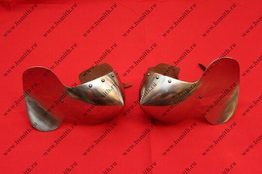 Наколенники миланские с лепестком, 65Г, фото 2