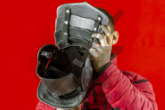 Шлем польских гусар, пластик, вид изнутри, фото 2
