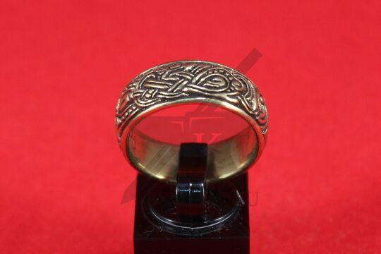 Кольцо со скандинавской плетенкой, фото 2