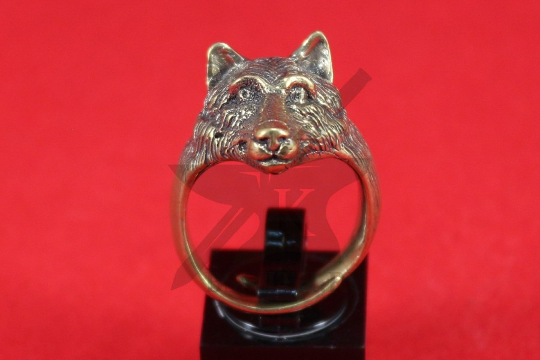 "Кольцо ""Волк"", фентези, литье, фото 2"