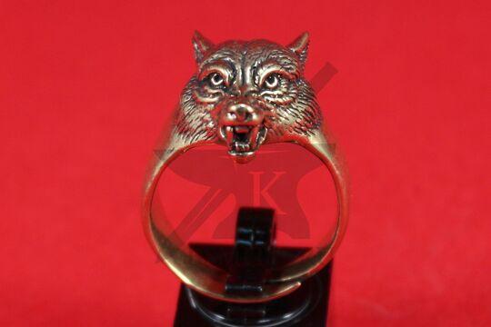 """Кольцо """"Волк с оскалом"""", фентези, фото 2"""