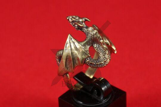"""Кольцо """"Дракон с крыльями"""", литье, фото 4"""